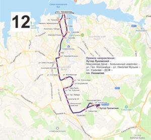 маршрут автобуса номер двенадцать