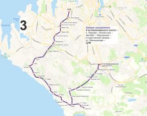 маршрут автобуса номер три