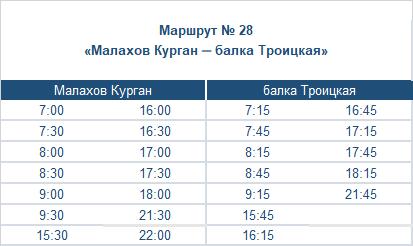 расписание маршрута автобуса номер двадцать восемь